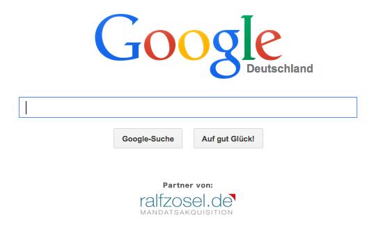 Screenshot Google mit Partnerlogo