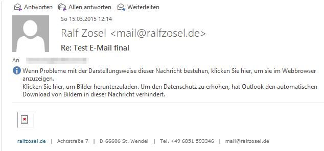 Outlook blockiert Bilder