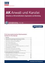 beA-Sonderheft AK Anwlat und Kanzlei