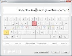 Screenshot TIPP10 Tipptrainer