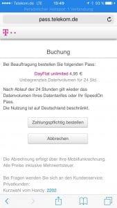 DayFlat unlimited von der Telekom