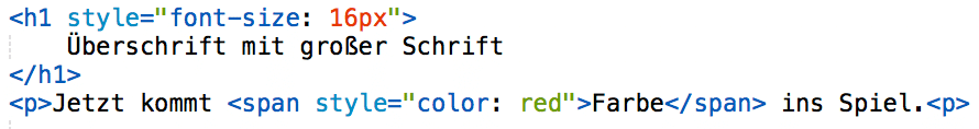 Beispiel CSS Inline-Style