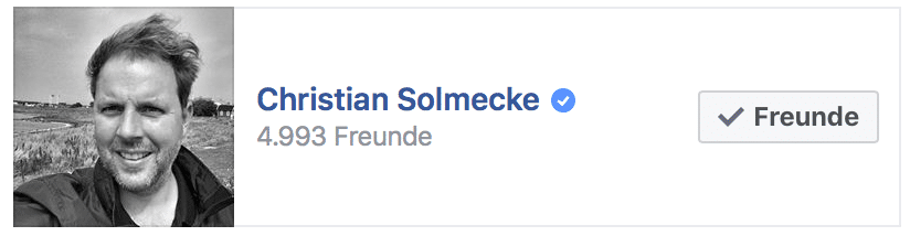 Rechtsanwalt Solmecke hat 5.000 Facebook-Freunde