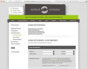 Screenshot einfach-vertreten.de