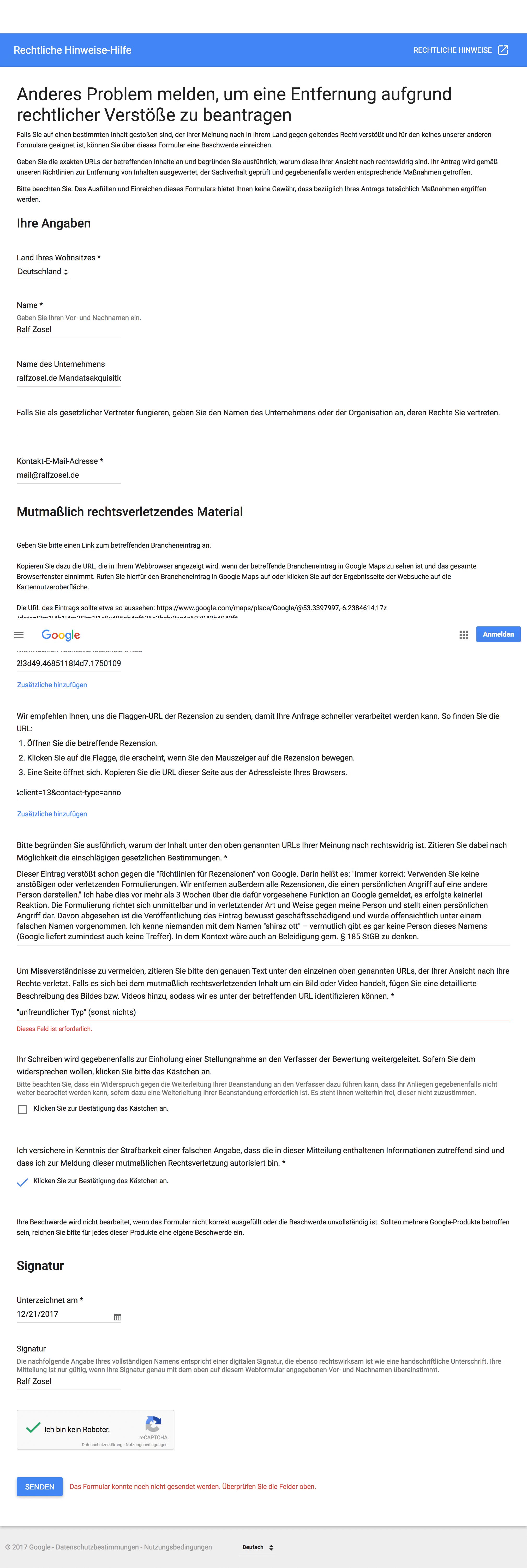 Schlechte Google Bewertung Löschen Ein Erfahrungsbericht