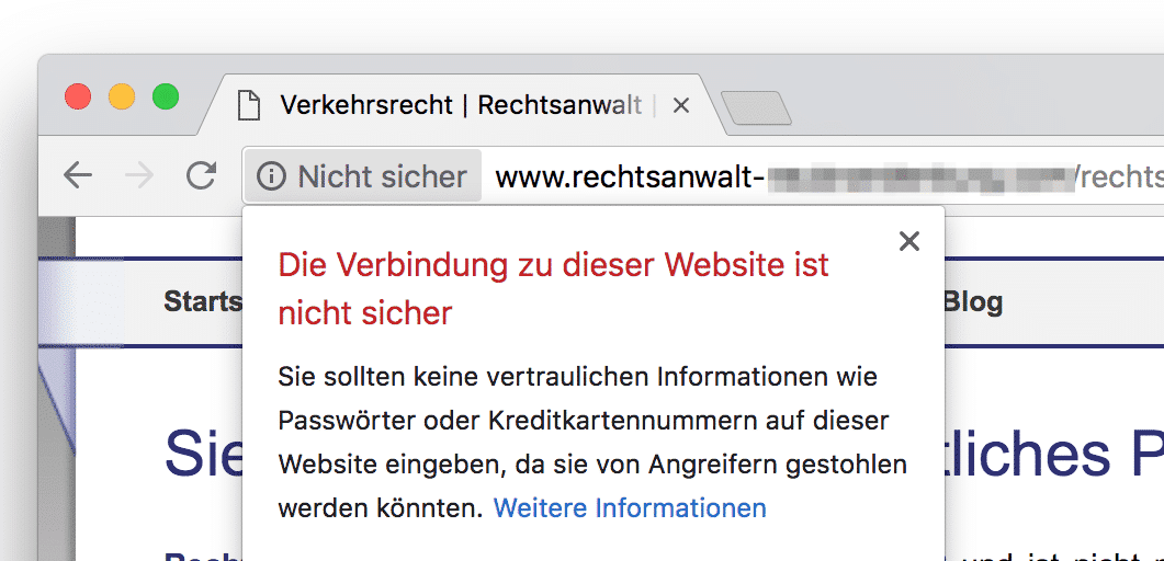 Screenshot Warnung im Chrome-Browser