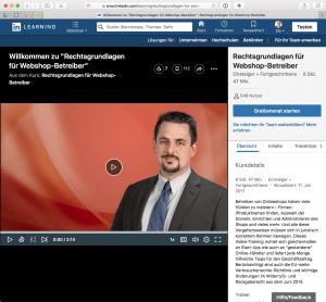 Beispiel für ein Video-Training mit Rechtsanwalt Rohrlich